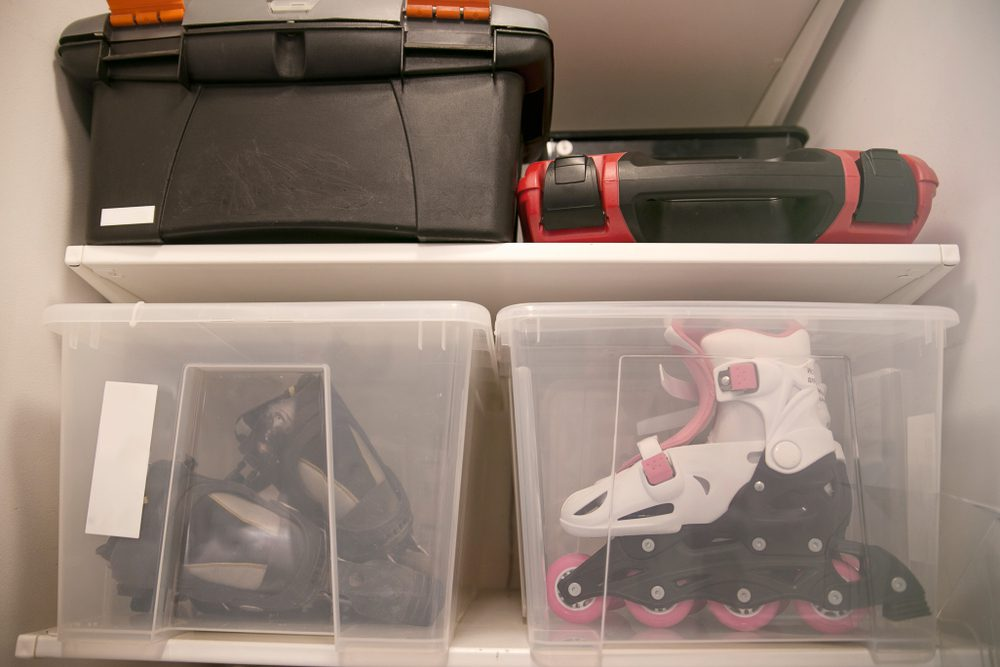 How To Declutter and Organize Your Garage use bins
