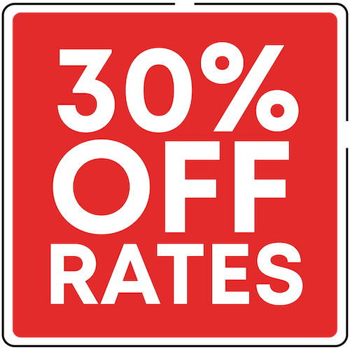 30% off Rates Start your rental online